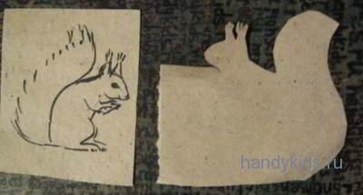Белка-вырезание из бумаги