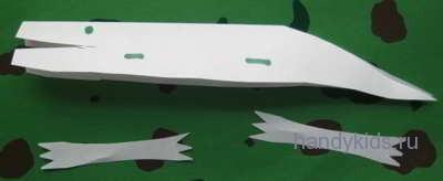 Как сделать модель крокодила