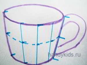 Середина чашки