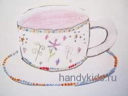 Украсим чашку узорами