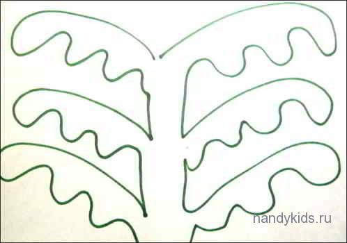 Раскраска  Чудо-дерево
