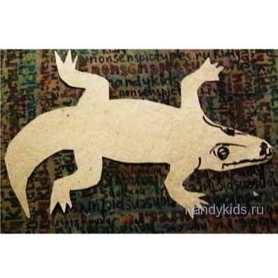 Силуэт крокодила из бумаги