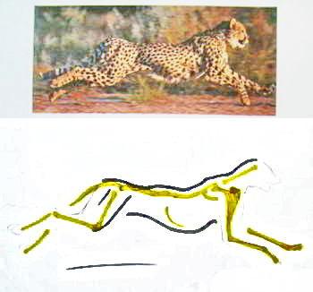 Как нарисовать гепарда