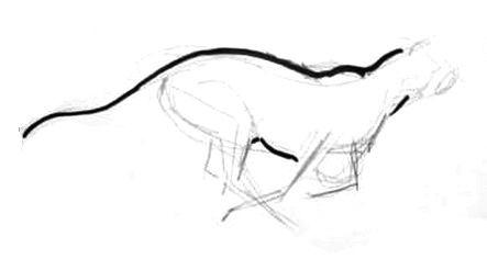 Урок рисования гепарда