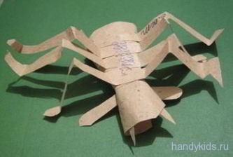 Детская поделка паук