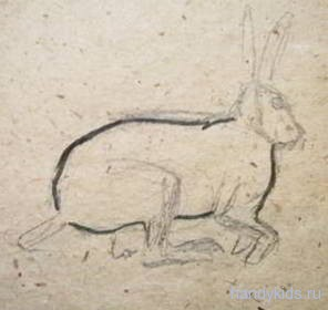 Как рисовать прыгающего зайца