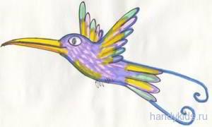 Как раскрасить колибри