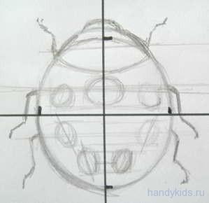 Нарисуем узор на спинке жука