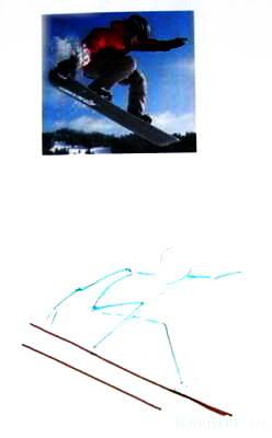 Как нарисовать сноубордиста 7
