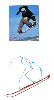 Нарисуем сноубордиста