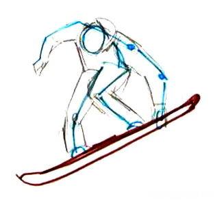Рисуем сноубордиста