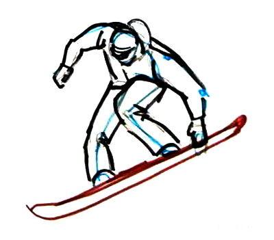 Рисунок Сноубордист