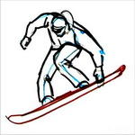Как нарисовать сноубордиста  поэтапно