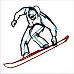 Рисунок сноубордиста