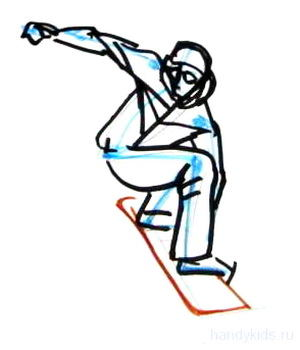 Сноубордист рисунок 15