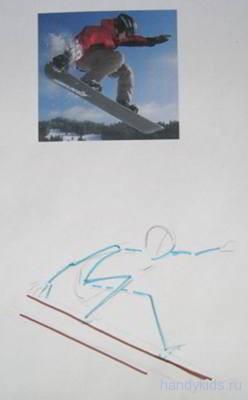 Рисуем схему фигуры человека.