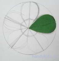 Шаблон лепестка цветка