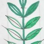 Узор  «Листья на ветке»