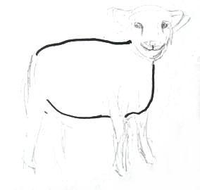 Рисуем барашка поэтапно