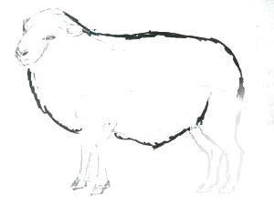 Рисуем барашка-барана