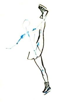 Рисуем фигуристку поэтапно