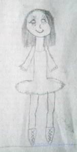 Детский рисунок -фигуристка