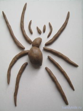 Лепка паук