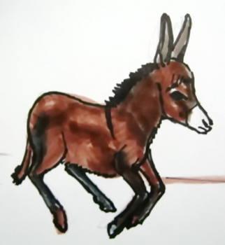 Рисунок ослик
