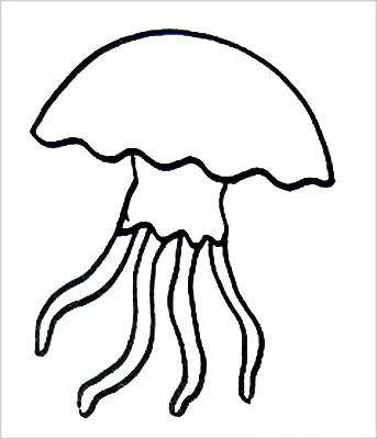 Раскраска Медуза 11