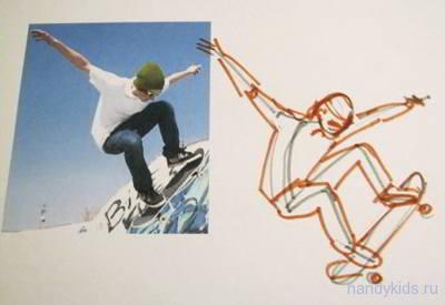 Скейтбордист рисунок