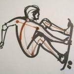 Как  нарисовать скейтбордиста