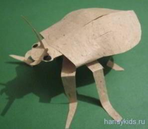 Жук из бумаги