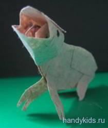 Бумажная лягушка