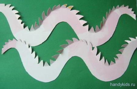 Детали туловища дракона