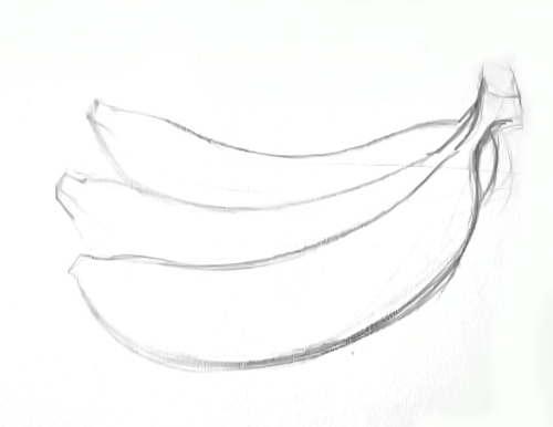 Рисунок -гроздь бананов