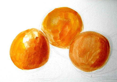 Учимся рисовать апельсины