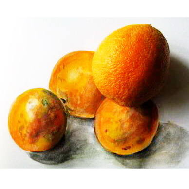 Рисунок апельсин