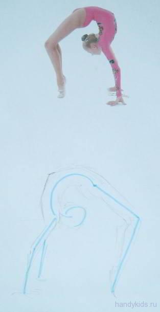 Рисуем гимнастку