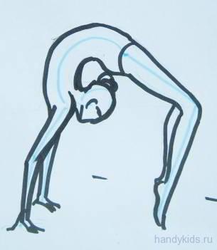 Гимнастка рисунок