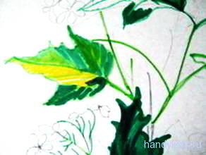Рисуем листья калины
