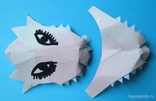 Детали маски дракона