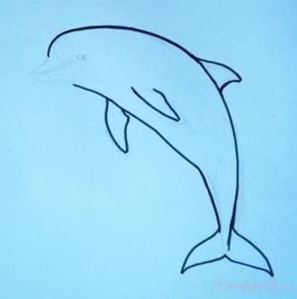 Нарисуем дельфина