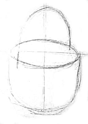 Карандашный эскиз корзины