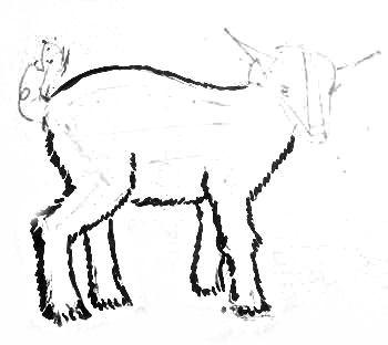 Рисуем козлёнка