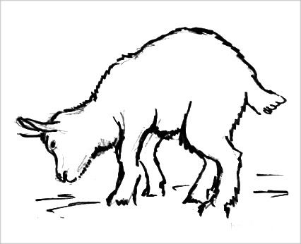 Раскраска Козлёнок
