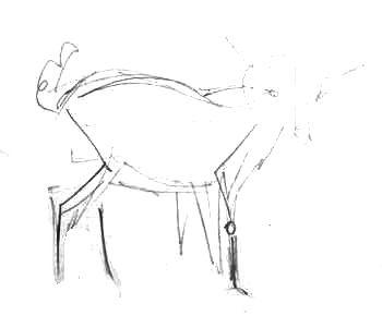 Козлёнок -эскиз карандашом