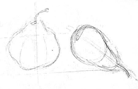Рисуем грушу карандашом