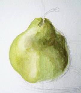 Рисуем грушу с натуры