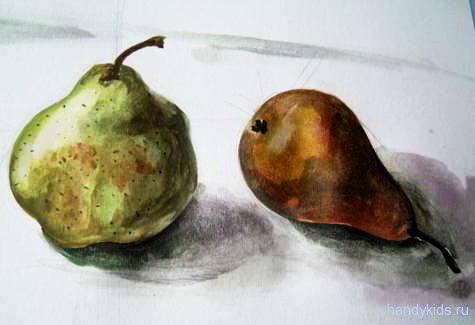 Натюрморт с грушами