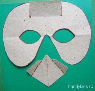 Выкройка маски птицы